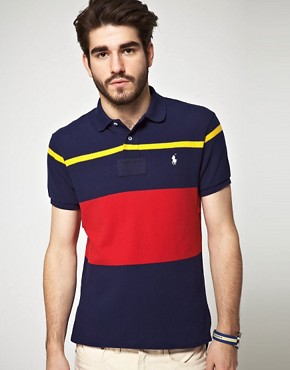 Image 1 ofPolo Ralph Lauren Slim fit Multi Stripe Waffle Polo