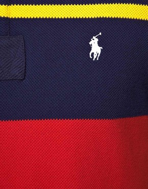 Image 3 ofPolo Ralph Lauren Slim fit Multi Stripe Waffle Polo