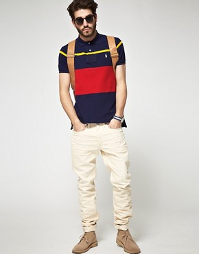 Image 4 ofPolo Ralph Lauren Slim fit Multi Stripe Waffle Polo