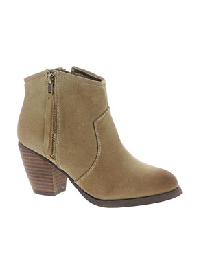 Image 1 ofRiver Island Easy Mink Block Heel Boots