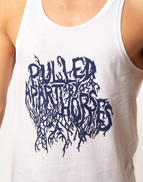 Image 3 ofASOS Vest With Pulled Apart By Horses Print