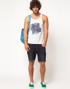 Image 4 ofASOS Vest With Pulled Apart By Horses Print