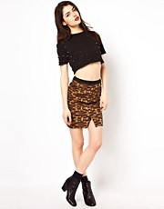 Beloved Cameron Mini Skirt with Buttons