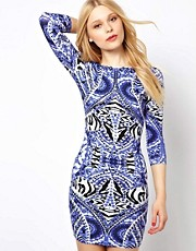 River Island Tribal Print Bodycon Dress