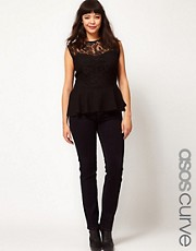 ASOS CURVE Rich Indigo Skinny Jeans #4
