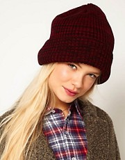 ASOS Rib Mixed Knit Boyfriend Beanie
