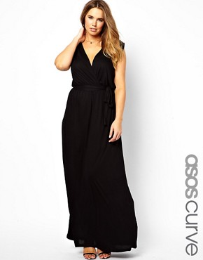 Image 1 of ASOS CURVE Exclusive Grecian Maxi Dress