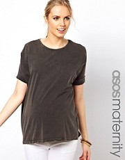 ASOS Maternity T-Shirt in Acid Wash
