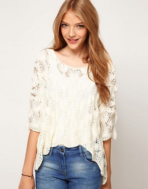 Image 1 ofASOS Crochet Tee