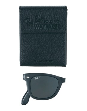 Image 2 ofRay-Ban Wayfarer Foldable Sunglasses with Polarised Lens