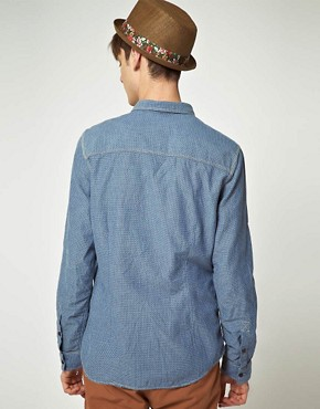 Image 2 ofASOS Mini Jacquard Denim Shirt
