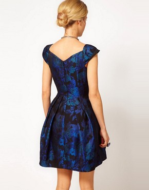 Image 2 ofASOS Tulip Dress in Jacquard