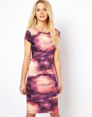 A Wear Galactic Print Jersey Dress