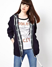 Pop Boutique Anorak with Tartan Lining
