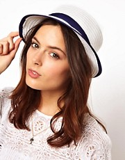 ASOS White Straw Boater