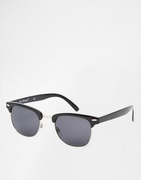 AJ Morgan Soho Retro Sunglasses In Black