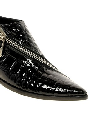 Image 1 ofSonia By Sonia Rykiel Crocodile Print Flat Shoes