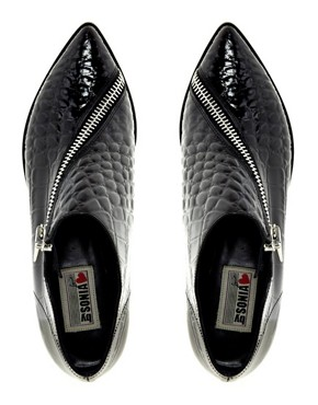 Image 4 ofSonia By Sonia Rykiel Crocodile Print Flat Shoes