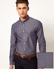 ASOS Smart Shirt With Polka Dot