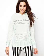 Wildfox - Take Me Home - Top con cappuccio e maniche lunghe