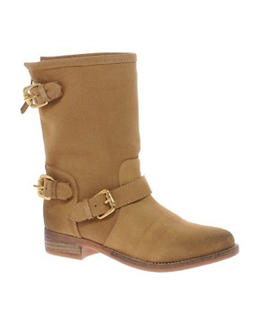 Image 1 ofDune Riffy Beige Biker Boots