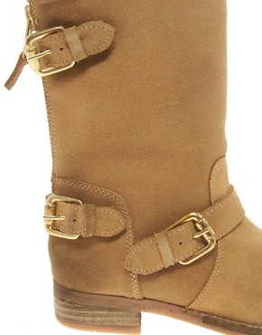 Image 2 ofDune Riffy Beige Biker Boots