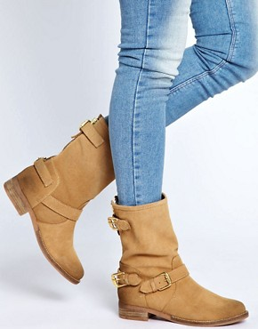 Image 3 ofDune Riffy Beige Biker Boots