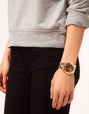 Image 2 ofASOS Leopard Print Boyfriend Watch