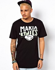 Makia &amp; Etnies T-Shirt Logo Print