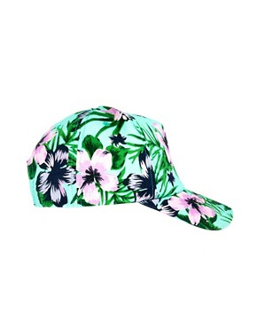 Image 2 of ASOS Hawaiian Print cap