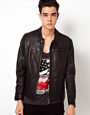Lee Leather Jacket Biker