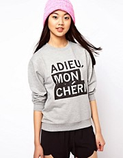 ASOS Sweatshirt with Adieu Mon Cheri