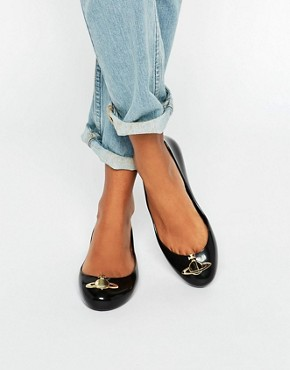 Vivienne Westwood for Melissa Space Love Orb Black Flat Shoes