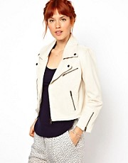 Ganni Canvas Biker Jacket