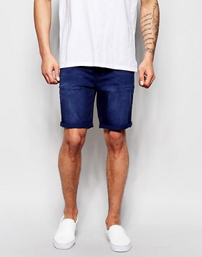 ASOS Denim Shorts In Skinny Fit Mid Length