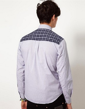 Image 2 ofShades of Grey Shirt with Contrast Panel