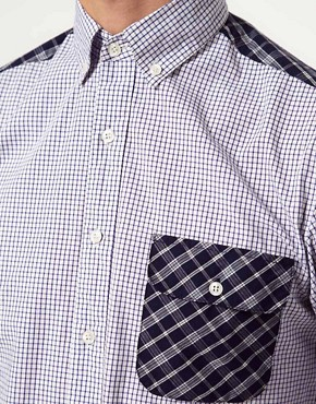 Image 3 ofShades of Grey Shirt with Contrast Panel