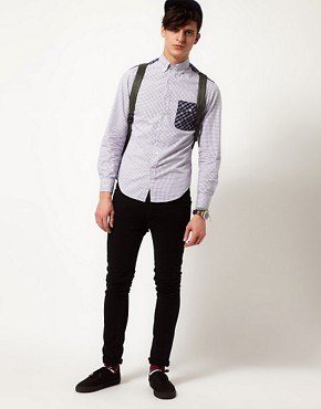 Image 4 ofShades of Grey Shirt with Contrast Panel
