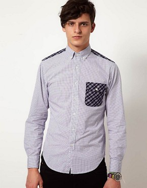 Image 1 ofShades of Grey Shirt with Contrast Panel