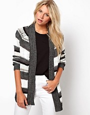 ASOS Edge To Edge Stripey Cardi