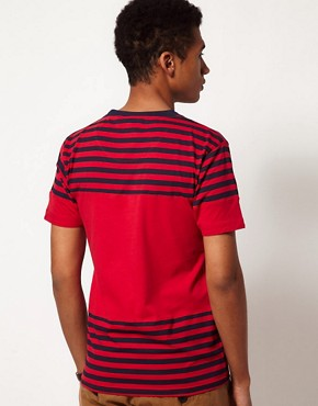 Image 2 ofBellfield T-Shirt with Block Stripes