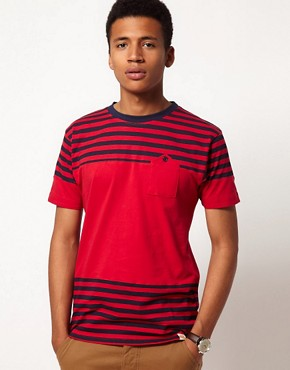 Image 1 ofBellfield T-Shirt with Block Stripes