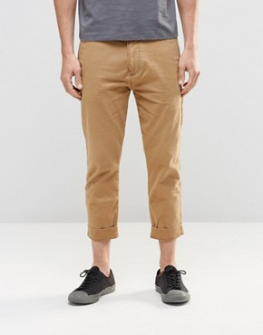 Hollister Jogger With Side Seam Zip In Beige