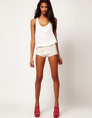 ASOS Knicker Shorts in Metallic Lace