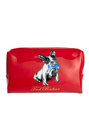 Image 1 ofTed Baker French Bulldog Print Large Washbag