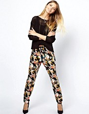 ASOS Peg Trouser in Floral Print