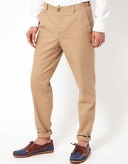 ASOS - Pantaloni da abito slim fit in cotone