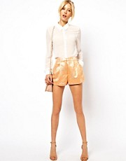 ASOS Mini Shorts in Luxe Fabric