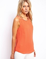 Oasis Chain Neck Dip Back Top