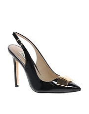 Dune Cadet Metal Bow Slingback Court Shoes
